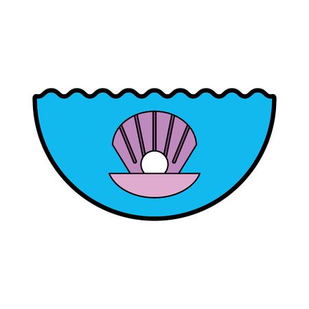 海のシェルのアイコン ベクトル イラスト デザインを分離しました。