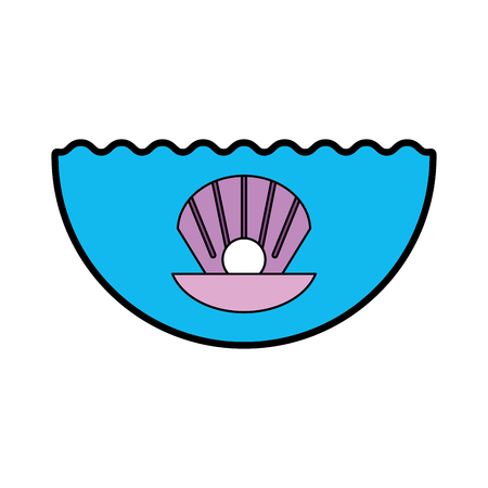 Sea shell isolated icon vector illustration design Banco de Imagens - 80791962