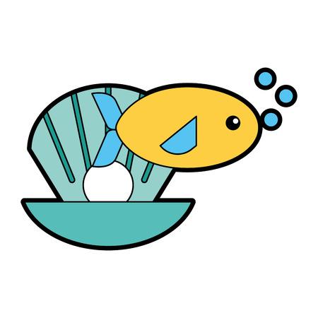 sea fish swiming icon vector illustration design Illustration