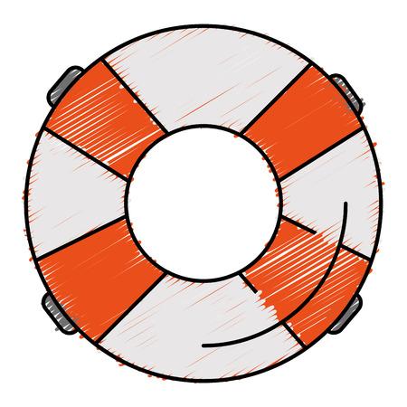Float bagnino isolato icona illustrazione vettoriale progettazione Archivio Fotografico - 80857046