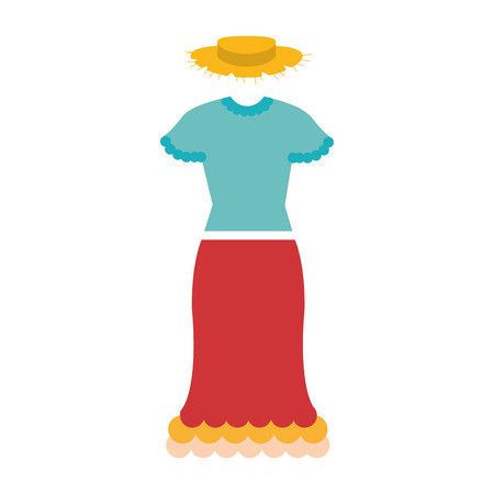 female Typical farmer costume icon vector illustration design Иллюстрация