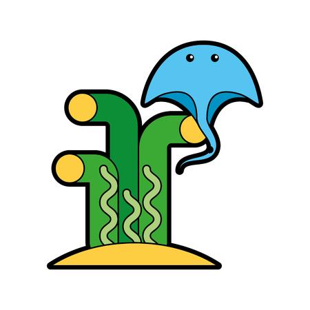 Marine stingray isolated icon vector illustration design