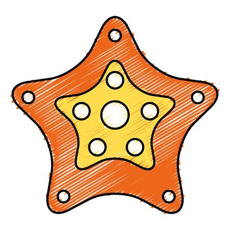 starfish tropical summer icon vector illustration design Reklamní fotografie - 80857056