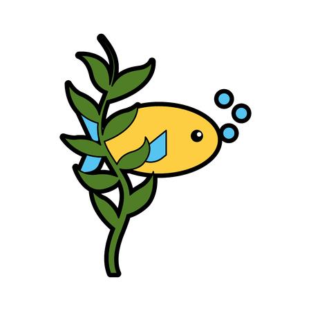swiming: A sea fish swiming icon vector illustration design