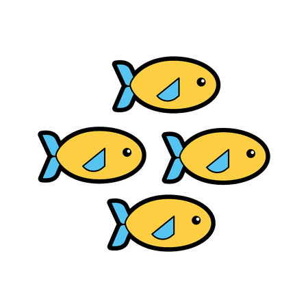 Shoal of fish icon vector illustration design