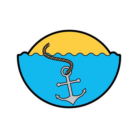sea anchor isolated icon vector illustration design Illustration