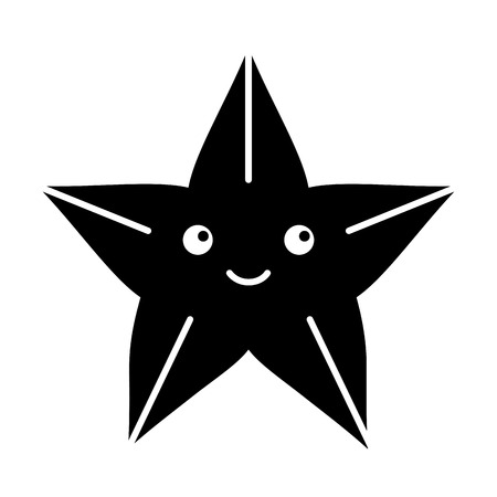 Cute starfish isolated icon vector illustration design Ilustrace