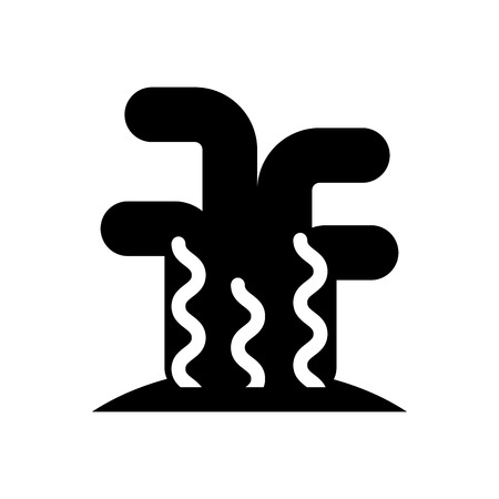 Marine koraal zee leven pictogram vector illustratie ontwerp