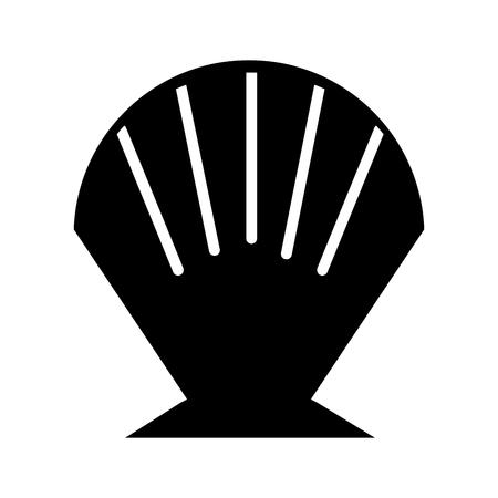 Sea Shell isoliert Symbol Vektor-Illustration Design Vektorgrafik
