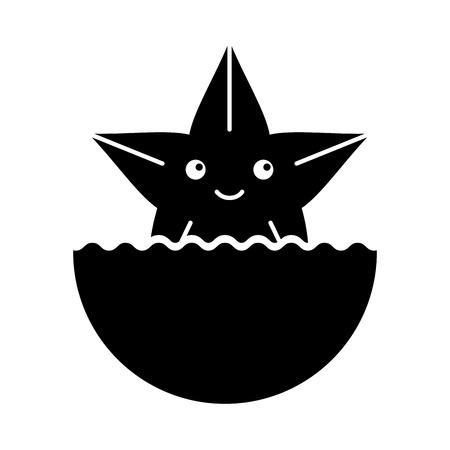 Cute starfish isolated icon vector illustration design Illusztráció
