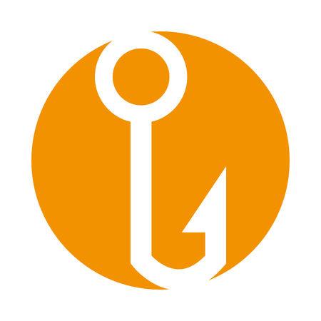 Fishing hook isolated icon vector illustration design