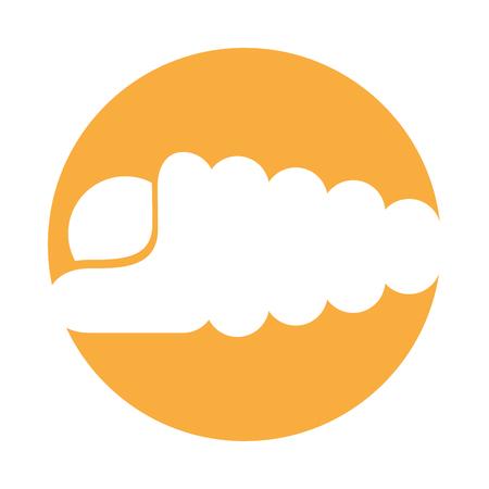海洋カタツムリ分離アイコン ベクトル イラスト デザイン