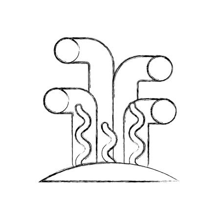Marine coral sea life icon vector illustration design