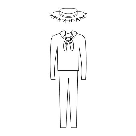 Varón típico agricultor traje icono de diseño de ilustración vectorial Foto de archivo - 80792036