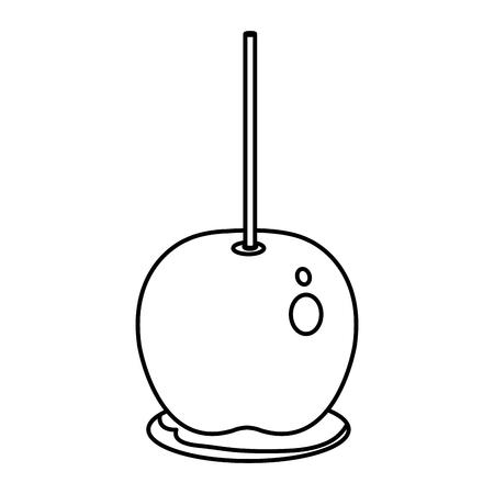 사탕 사과 격리 아이콘 벡터 일러스트 디자인
