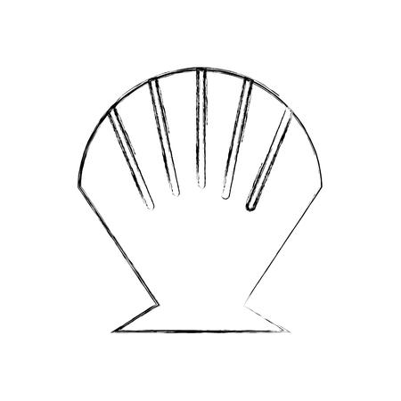 Sea Shell isoliert Symbol Vektor-Illustration Design