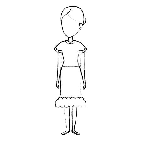 Mujer en diseño del ejemplo del vector del traje Foto de archivo - 80790507