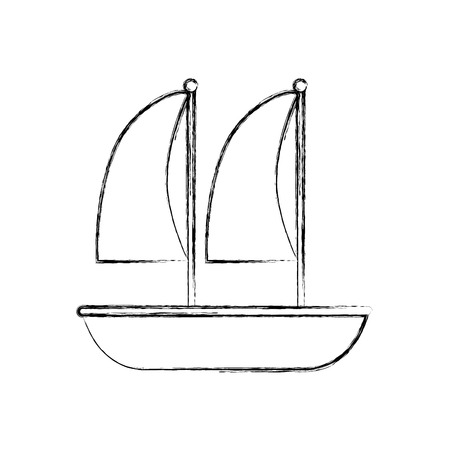 Sailboat marine isolated icon vector illustration design