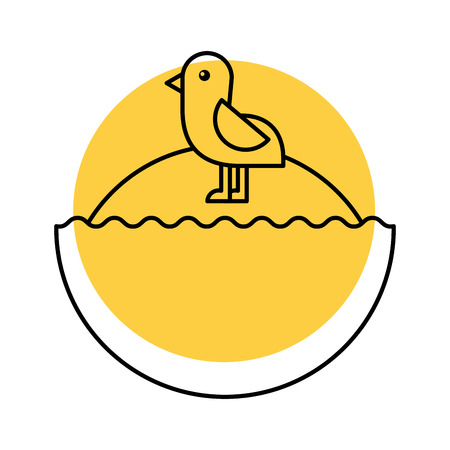 cute bird sea icon vector illustration design Stock Vector - 80790542