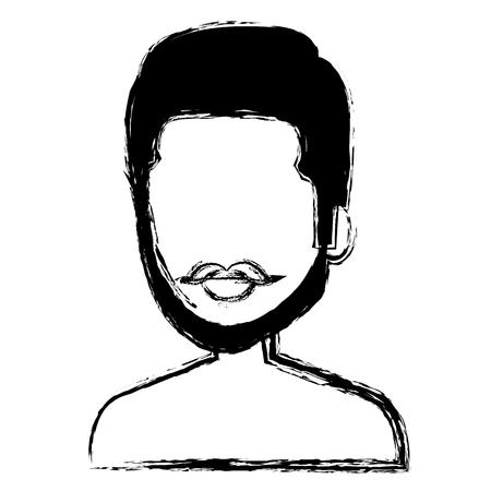 young man shirtless avatar character vector illustration design Stock Vector - 80792217