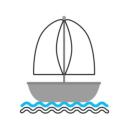 sailboat marine isolated icon vector illustration design 向量圖像