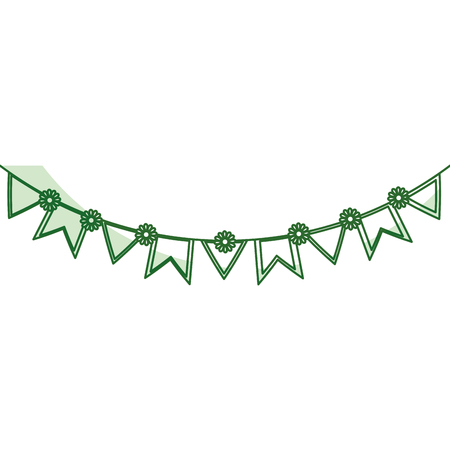symbolics: party garlands isolated icon vector illustration design