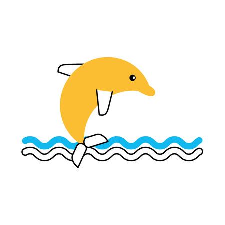 cute dolphin isolated icon vector illustration design Ilustração