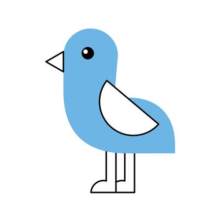 cute bird sea icon vector illustration design