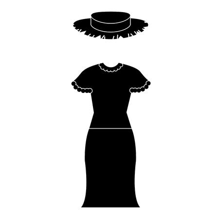 female Typical farmer costume icon vector illustration design Illustration