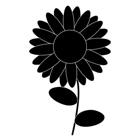かわいいヒマワリ分離アイコン ベクトル イラスト デザイン  イラスト・ベクター素材