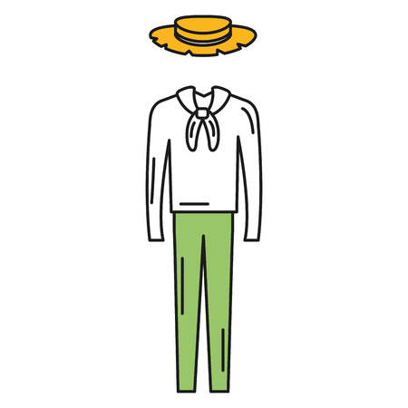 Male Typical farmer costume icon vector illustration design