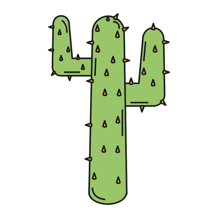 natural cactus isolated icon vector illustration design Stock Vector - 80790719