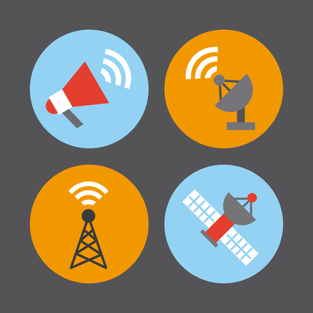 internet search: icons set news objects illustration vector design graphic
