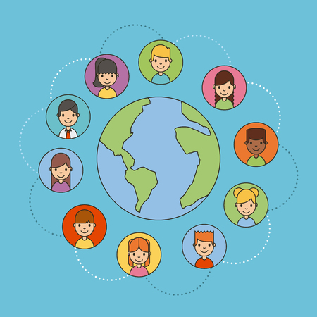 Applications people network icon vector illustration design graphic