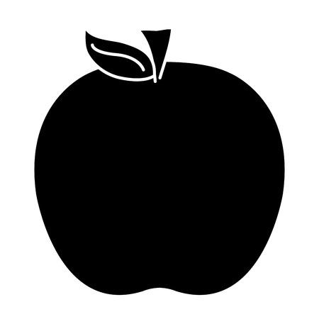 apple fresh fruit icon vector illustration design Иллюстрация