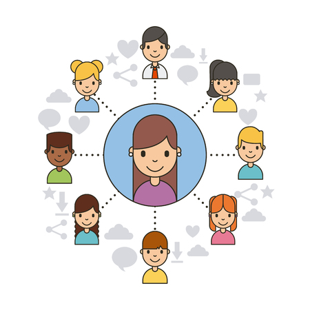 wireless connection: Applications people network icon vector illustration design graphic