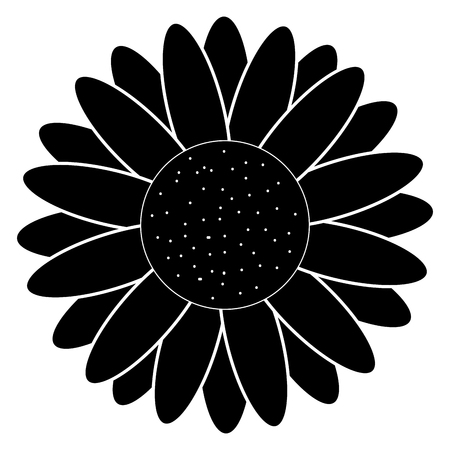 cute sunflower isolated icon vector illustration design
