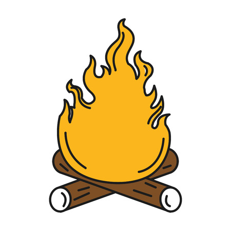 campfire flame isolated icon vector illustration design Illustration