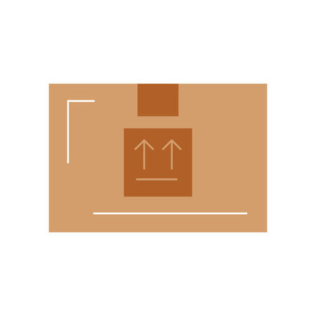shipments: box carton delivery icon vector illustration design Illustration