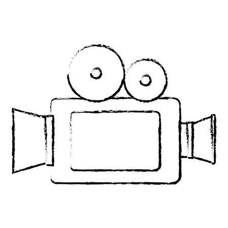 カメラ映画分離アイコン ベクトル イラスト デザイン