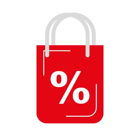 パーセント記号ベクトル イラスト デザインのショッピング バッグ  イラスト・ベクター素材
