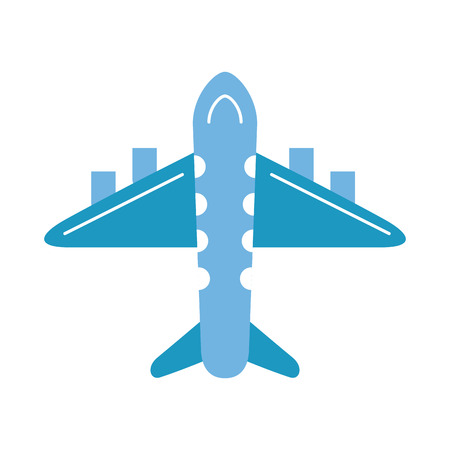 destination: airplane flying isolated icon vector illustration design
