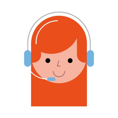 Agente di call center avatar illustrazione vettoriale di progettazione Archivio Fotografico - 80795371