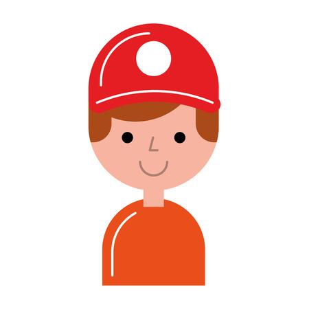 Diseño de ilustración de vector de personaje de avatar de trabajador de entrega Foto de archivo - 80795370