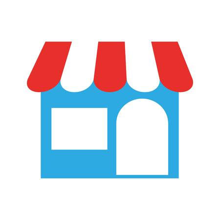 store building front icon vector illustration design