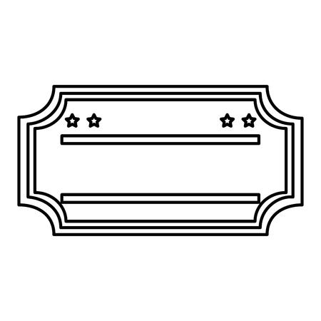 ticket paper isolated icon vector illustration design Illustration