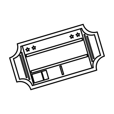 ticket paper isolated icon vector illustration design Illusztráció