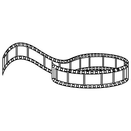 Tape cinema isolated icon vector illustration design Foto de archivo - 80795535