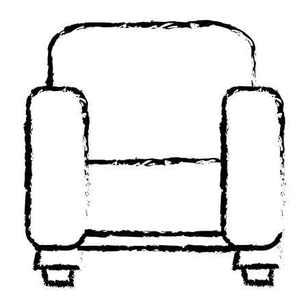 comfortable: couch home isolated icon vector illustration design