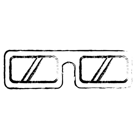 glasses 3d isolated icon vector illustration design